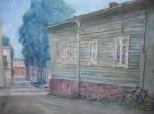 Vanha puutalo Viipurissa.Auli Muurinen-Kitula