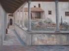 Luostarin sisäpiha Fiésole Italia. Auli Muurinen-Kitula